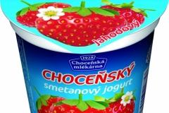 6402 - Choceňský smetanový jogurt jahoda 150 g