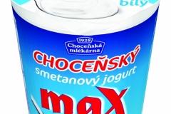 6410 - Choceňský smetanový jogurt MAX bílý 380 g