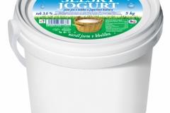 5185 - Selský jogurt 3,6% 1 kg, 5186 5kg, 5189 10 kg