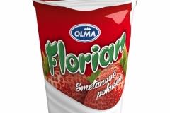 6102 - Florian smetanový jogurt jahoda 150 g